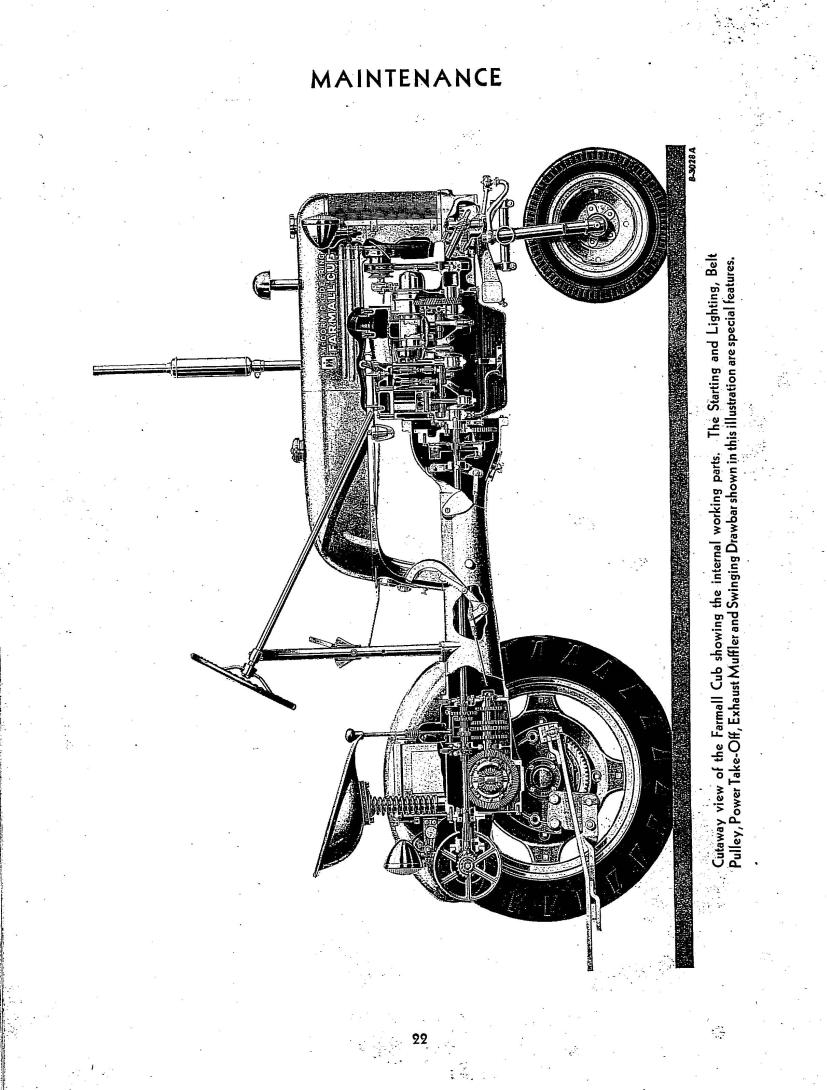 McCormick Farmall Cub Operator's Manual 5-1-49