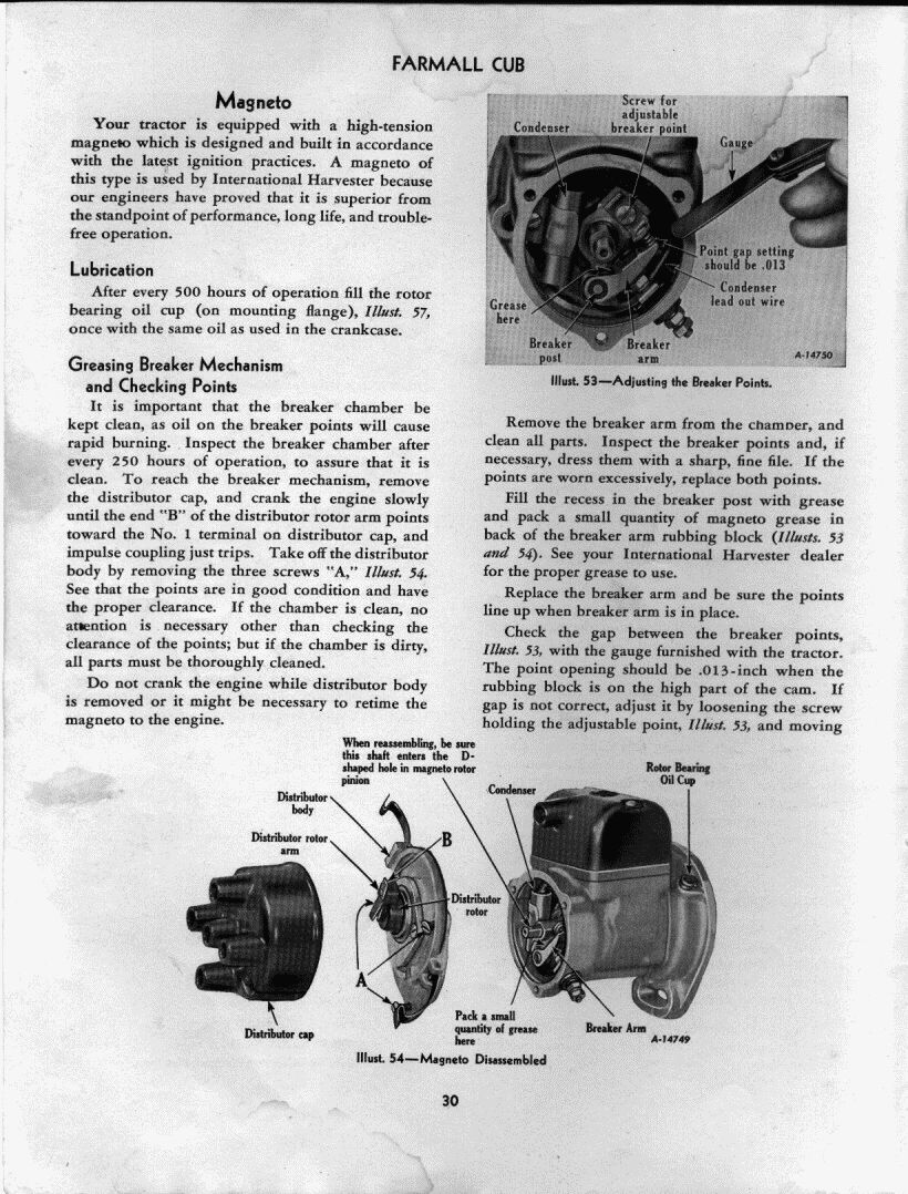 hight resolution of below is the whole 1950 cub owner s manual the experts on here say people should read it if you never have it has lots of info about operation