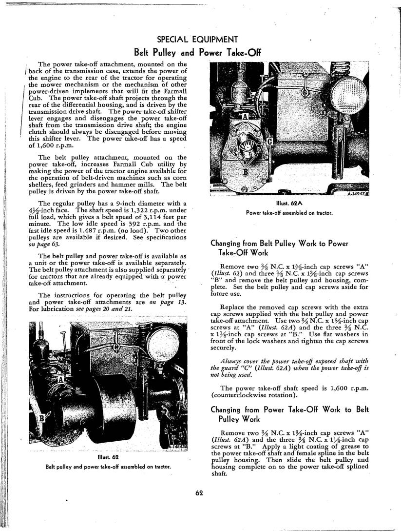 McCormick Farmall Cub Tractor Operator's Manual 1-5-55