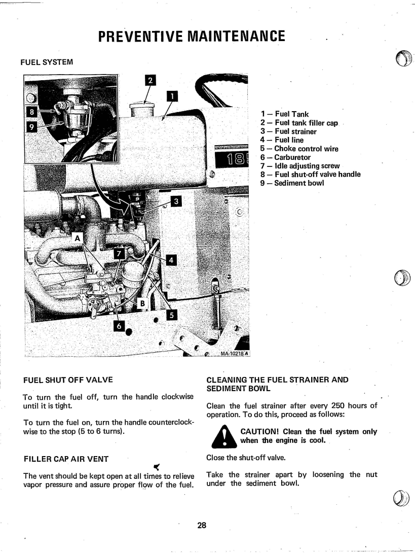 International Cub 185 Lo-Boy Operator's Manual 8-75