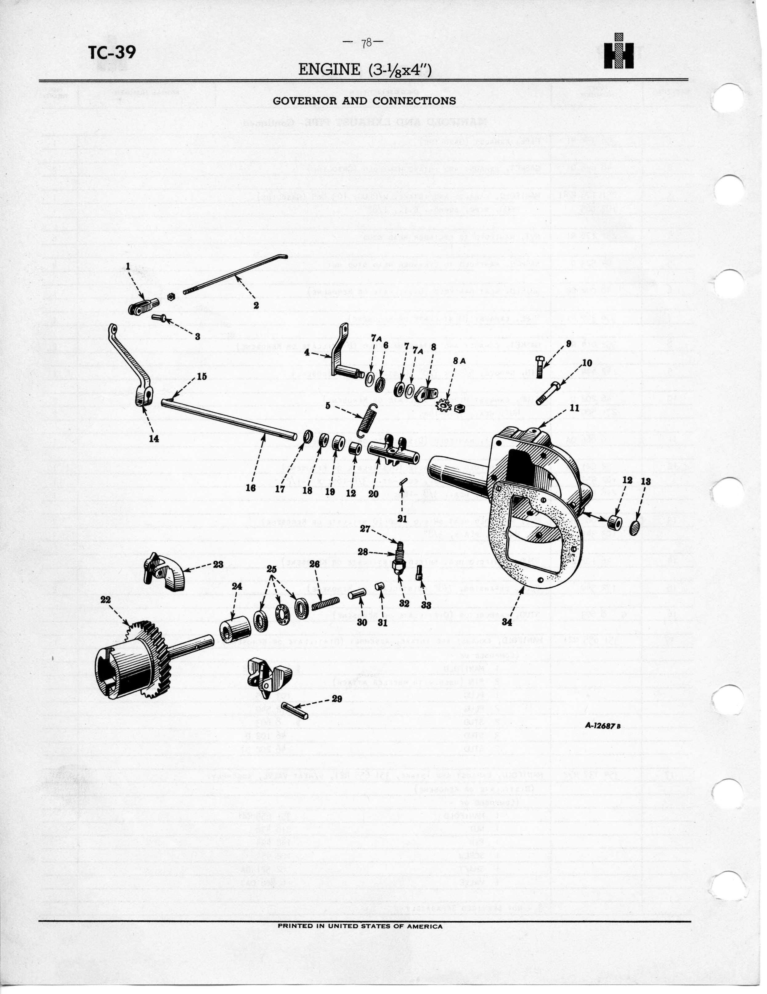 h farmall governor part diagram