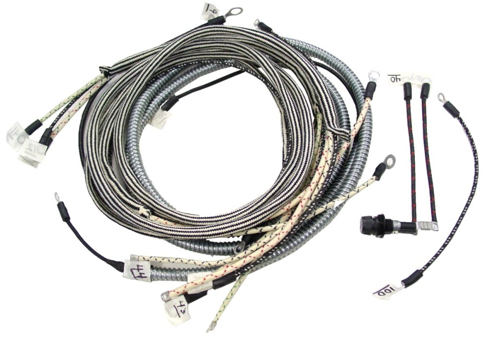 medium resolution of wiring harness farmalll m and super m with regulator on steering column