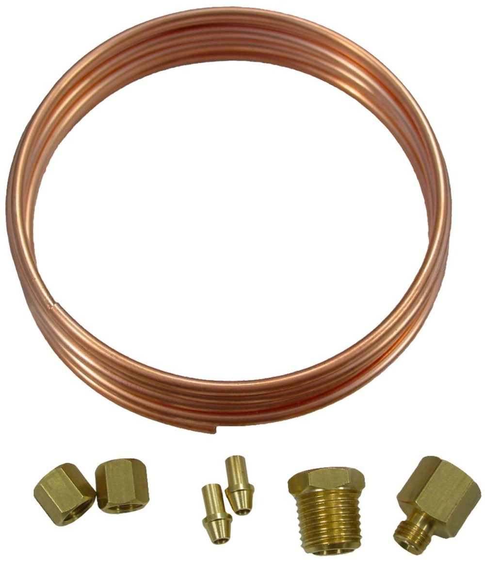 medium resolution of oil pressure gauge copper line kit