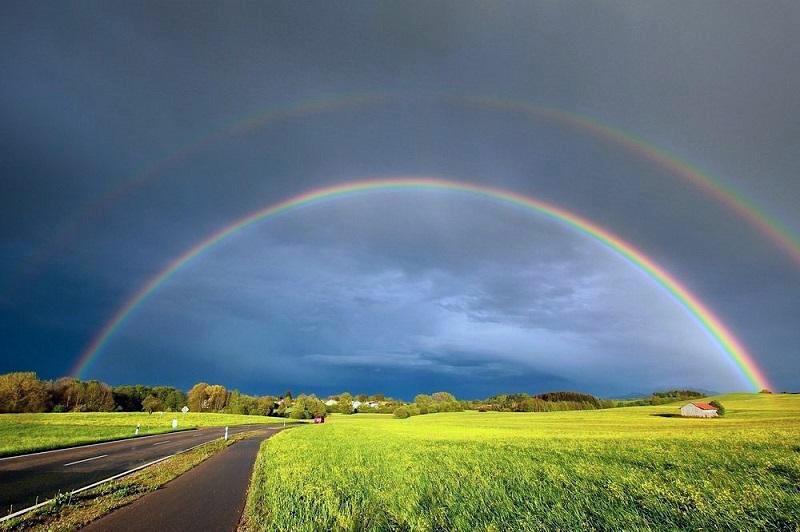 Rainbow Over Farm Landscape Generic Ag Industry News