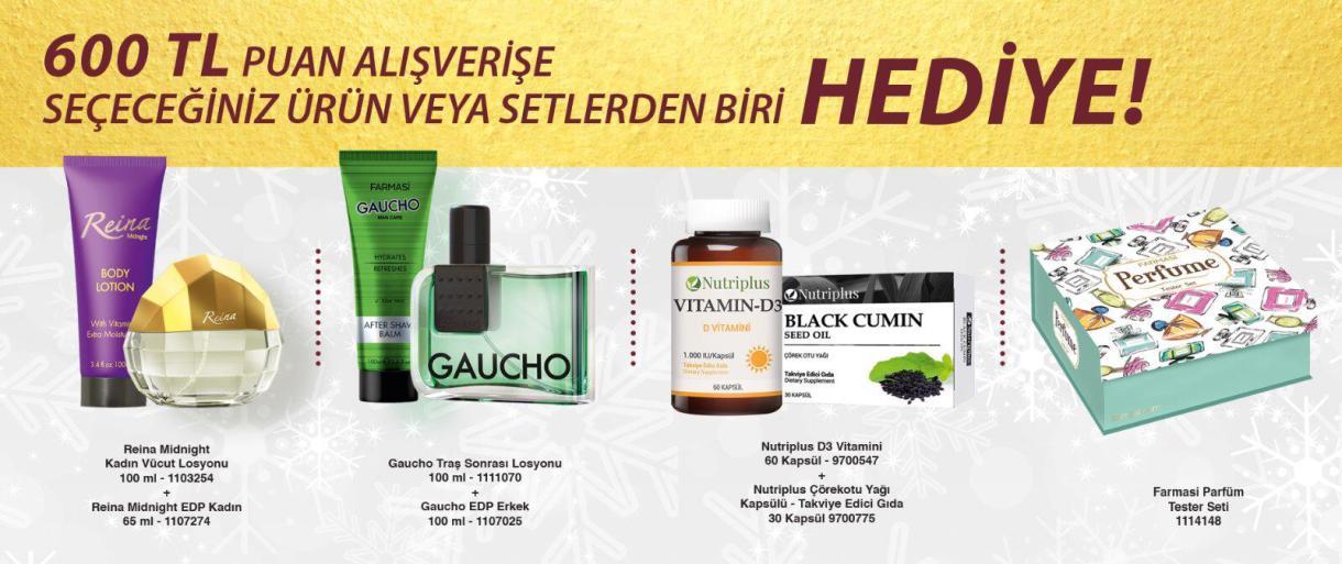 Farmasi aralık ayı 600 puan alışverişe kampanya görseli