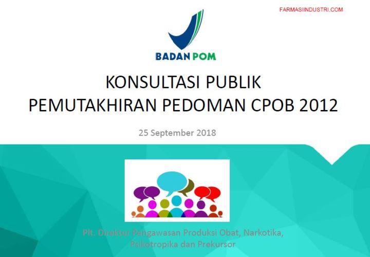 Perbedaan CPOB 2012 Vs CPOB 2018