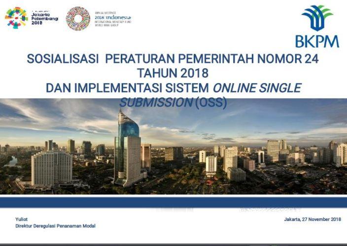"""Share Materi """" Sosialisasi Pelaporan dan Pelayanan Perizinan Berusaha Terintegrasi secara Elektronik dalam Rangka Menunjang Pelayanan Publik"""""""