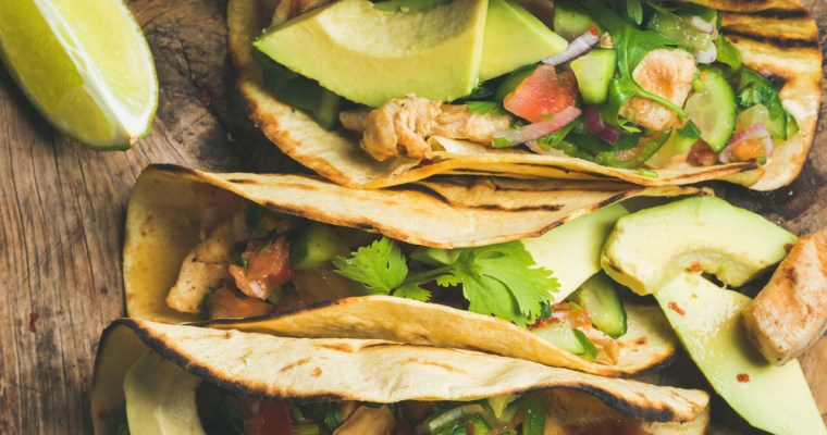 Fish Tacos with Avocado and Fresh Salsa