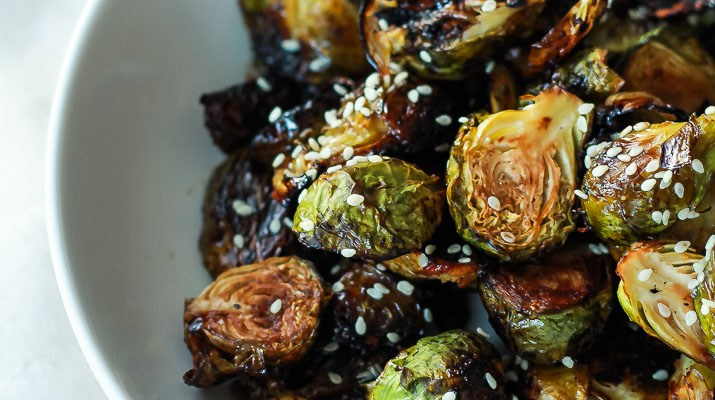 Balsamic Honey Glazed Brussels Sprouts