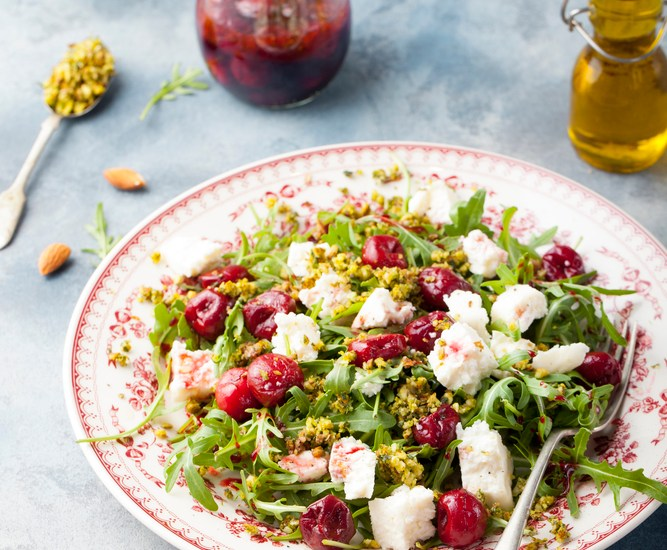 Roasted Cranberry and Goat Cheese Salad