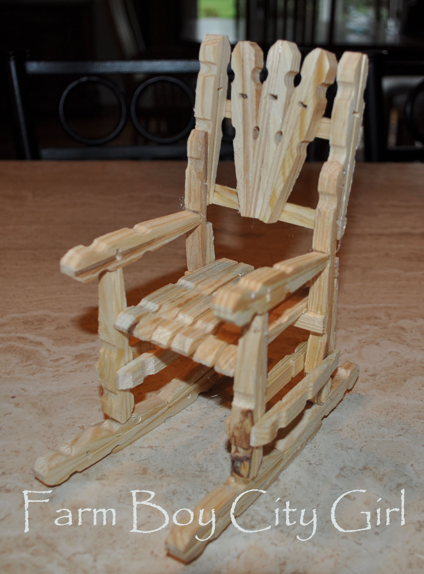 how to make a wooden chair dining room covers near me barbie doll clothes pin