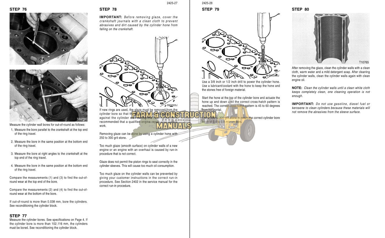 Case 4-390, 4T-390, 4TA-390 Diesel Engine Service Manual