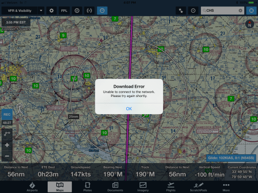 Download error in Foreflight
