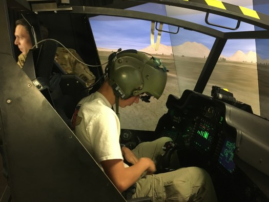 Spork gearing up to fly the Apache