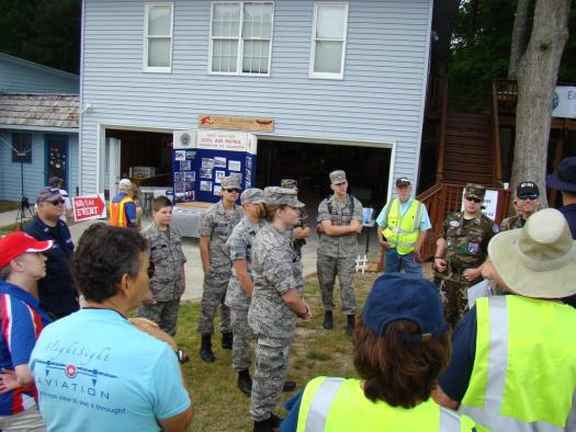 Event and safety briefing by CAP and EAA personnel