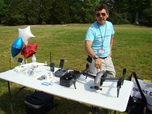 Commerical drones were also on display at the event