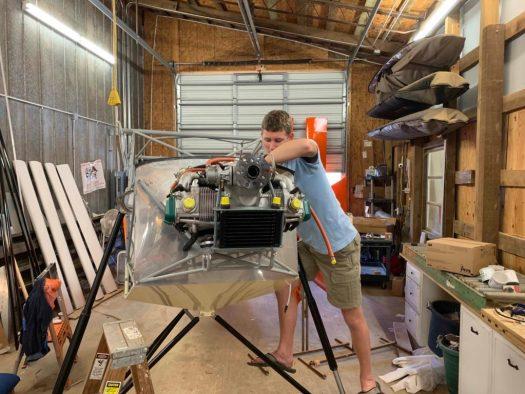 Spork working on the engine