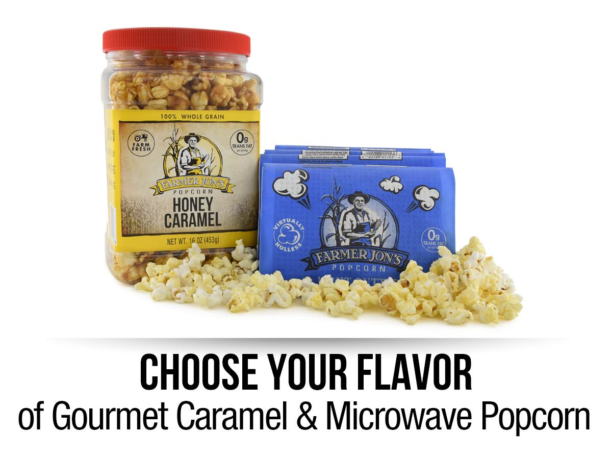 microwave popcorn 20pk with caramel jar