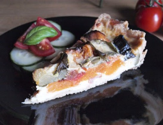 Butternut Squash and Tomato Tart