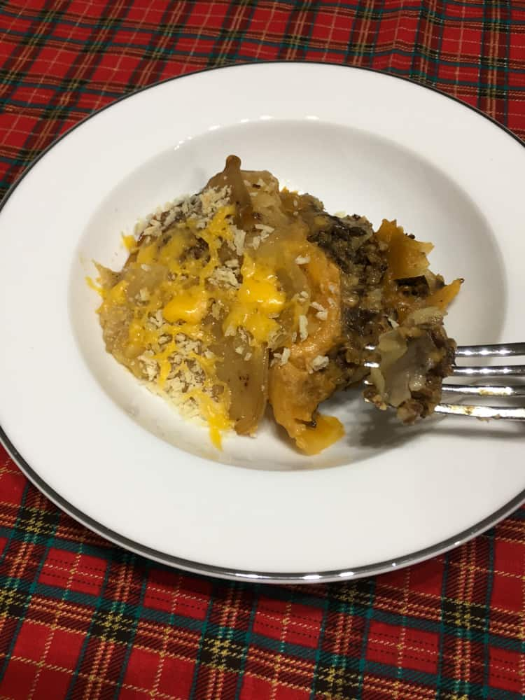 No Pasta Haggis Lasagne in your Crockpot!