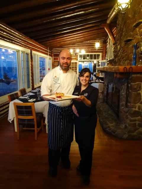Chef Thomas and Server Jill at Pictou Lodge Oceanside Dining