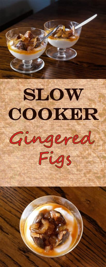 Slow Cooker Gingered Figs - a simple 3 ingredient autumn dessert