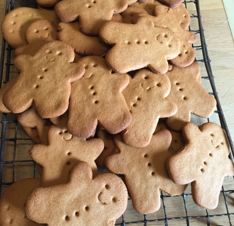 A pile of homemade  Sweet Gingerbread Men