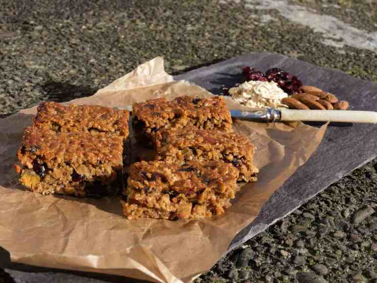 Easy to make Oat Flapjack bars