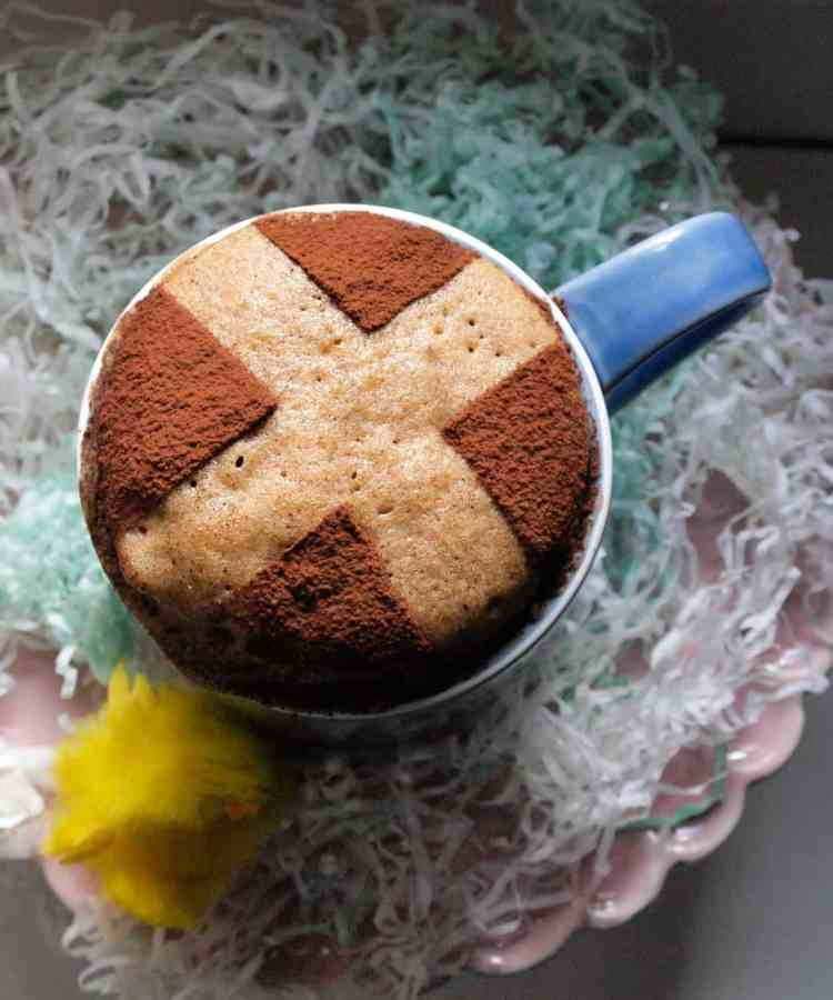 Hot Cross Bun Microwave Mug Cake, all the flavours of a Hot Cross Bun in a few minutes