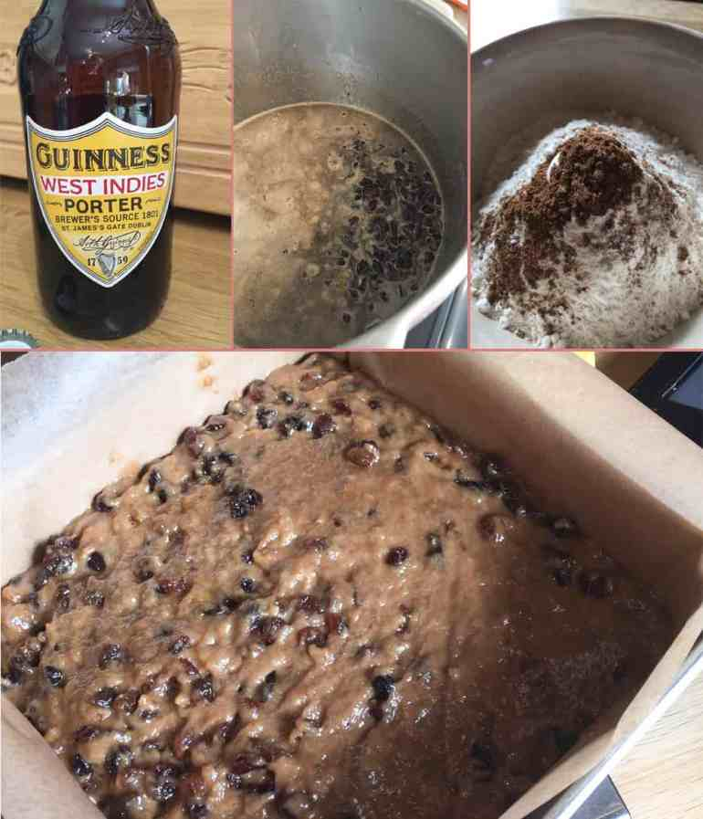 Making Irish Porter Cake