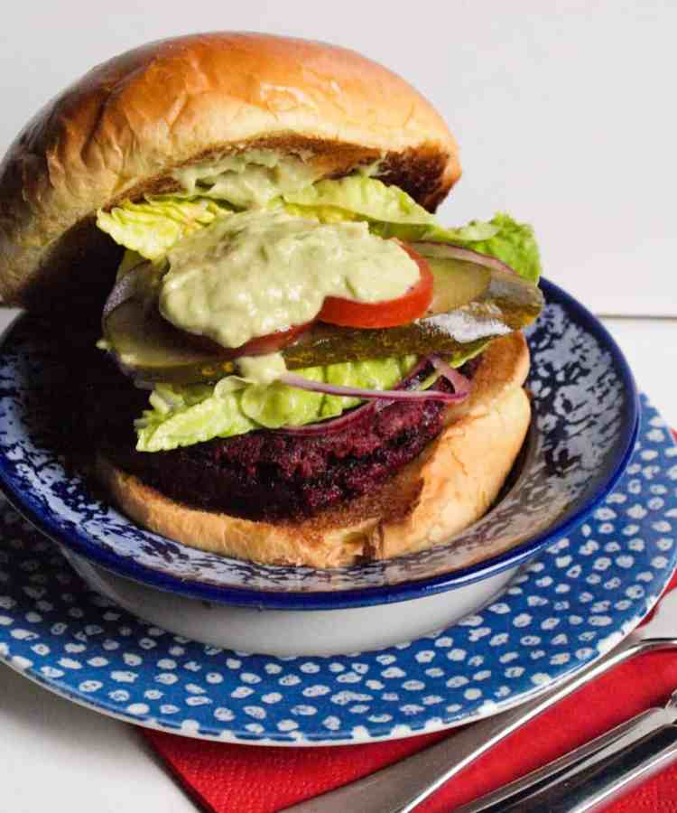 Elly Pear's Beetroot Burger