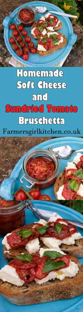 Soft Cheese and Sundried Tomato Bruschetta