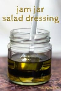 Jam Jar Salad Dressing for Lemon Cucumber Salad