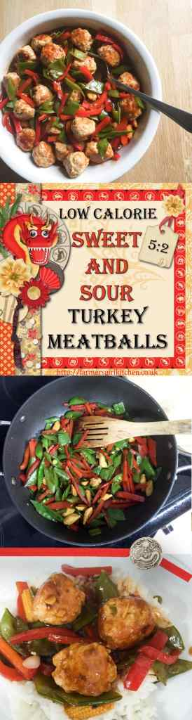 Low Calorie Sweet and Sour Turkey Meatballs