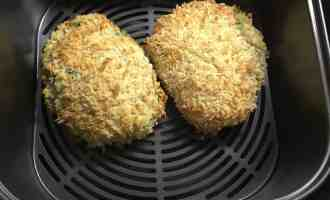Fava Bean Kiev cooked in the Optimum HealthyFry