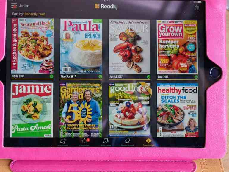 Readly Food Magazine Heaven downloaded magazines