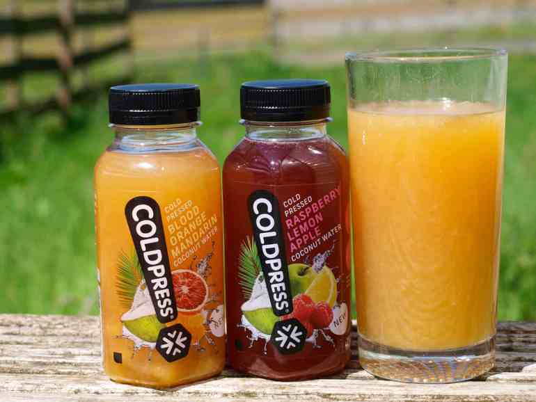 Cold Press Fruit Juice Coconut Water, a refreshing summer drink