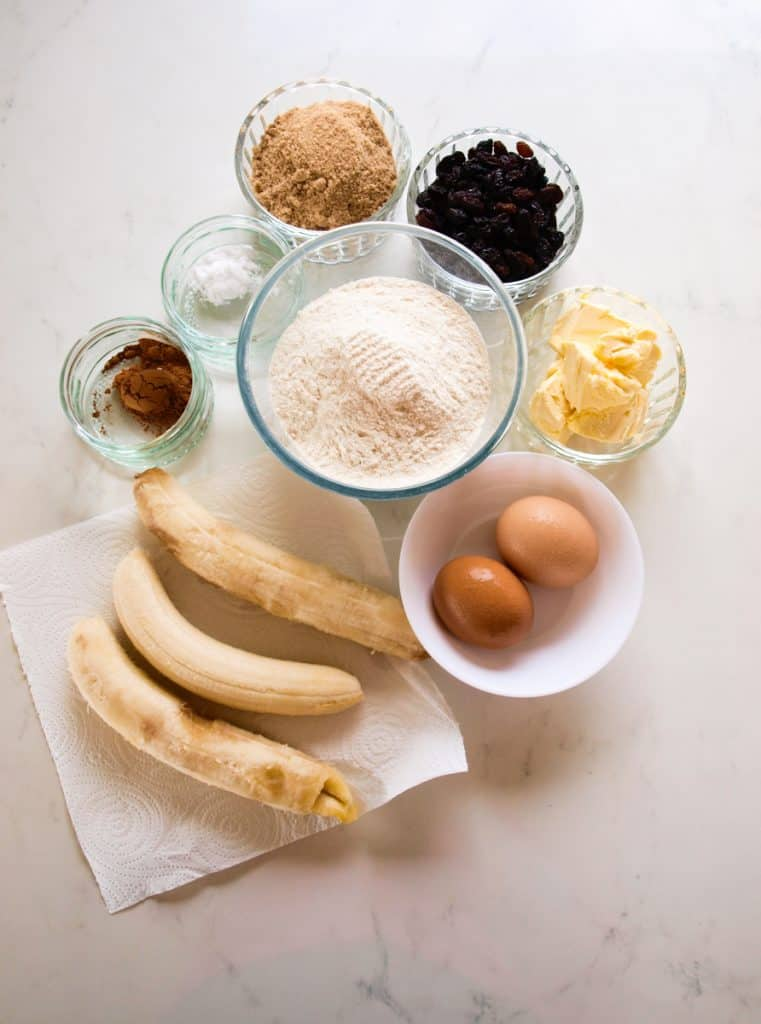 All the ingredients for Brilliant Blender Banana Bread