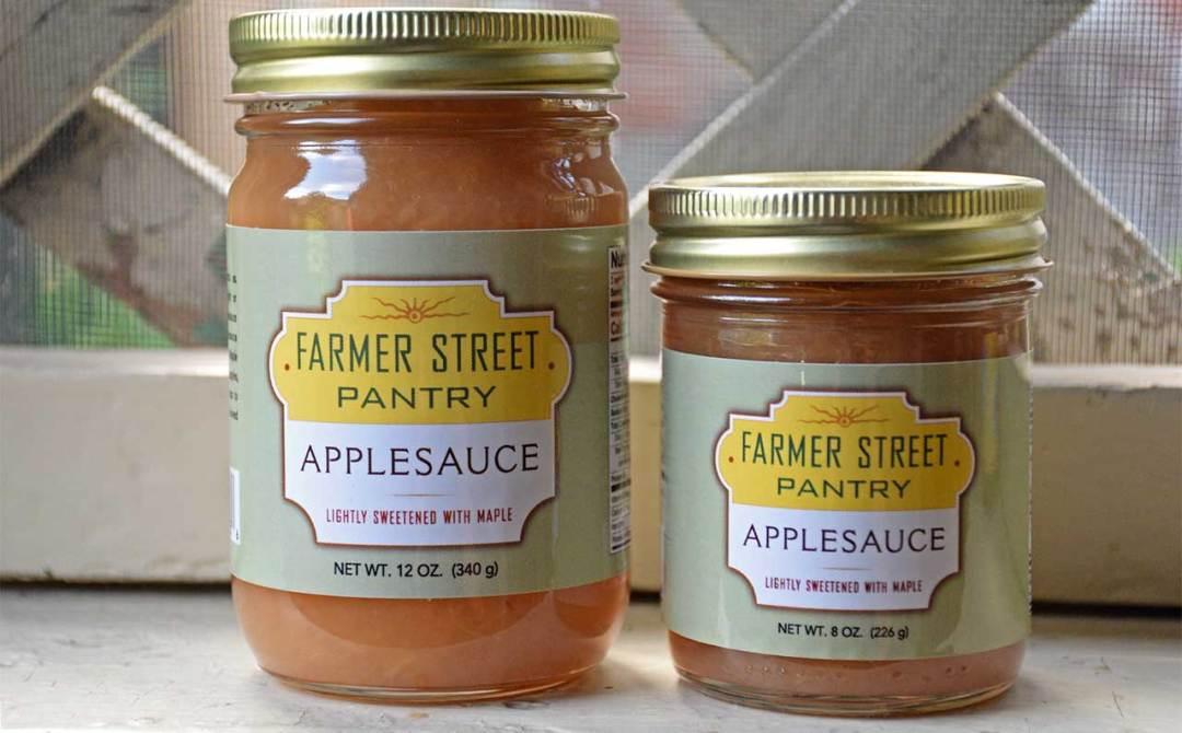Farmer Street Pantry Applesauce in two sizes