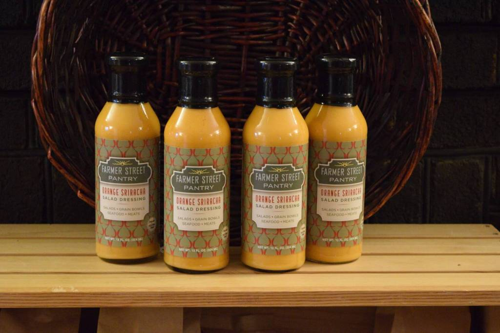 Orange Sriracha dressing is the foundation for spreads, dips and sauces