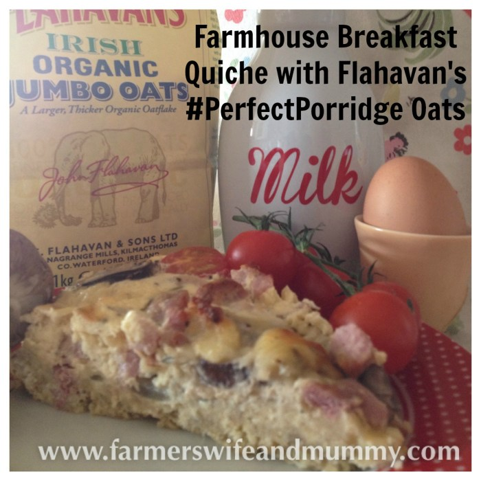 Farmhouse Breakfast Quiche with Flahavan's #PerfectPorridge Oats