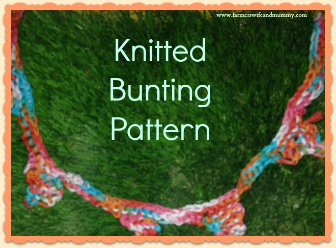 Mini Knitted Bunting Pattern Farmers Wife And Mummy