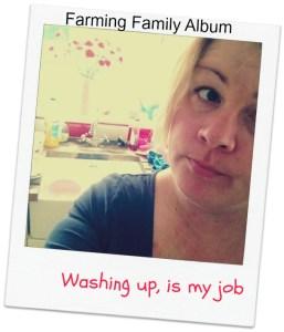washing up