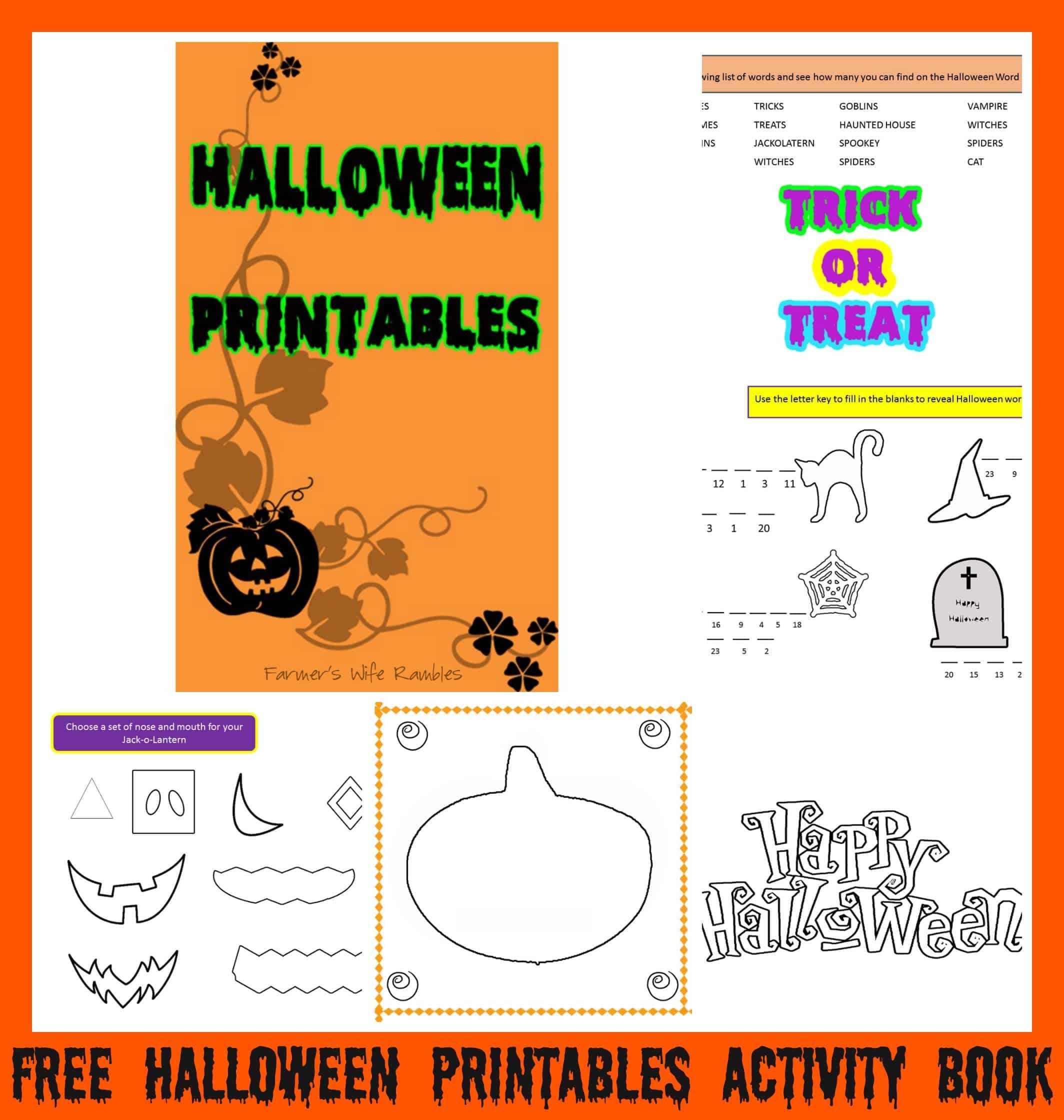 Free Halloween Printables Activity Book