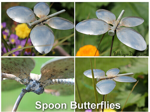 Upcycled Spoon and Screw Butterflies