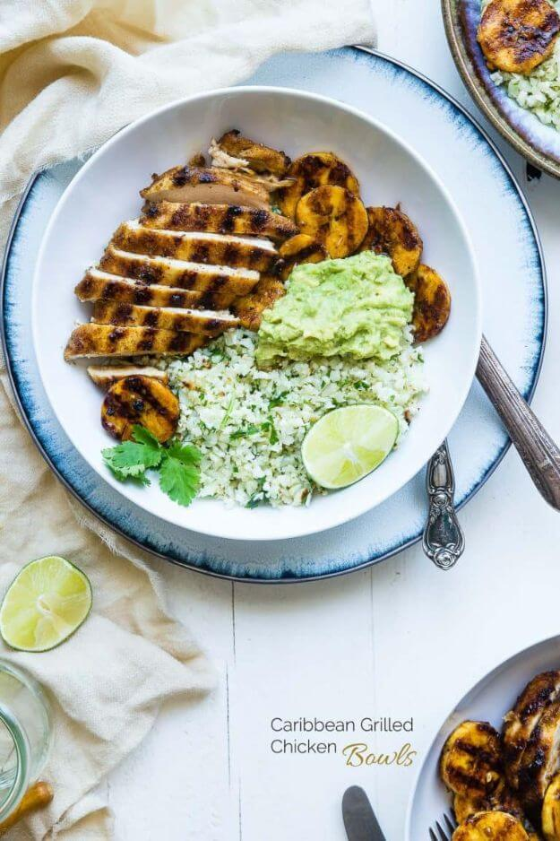 Caribbean Grilled Chicken Bowls
