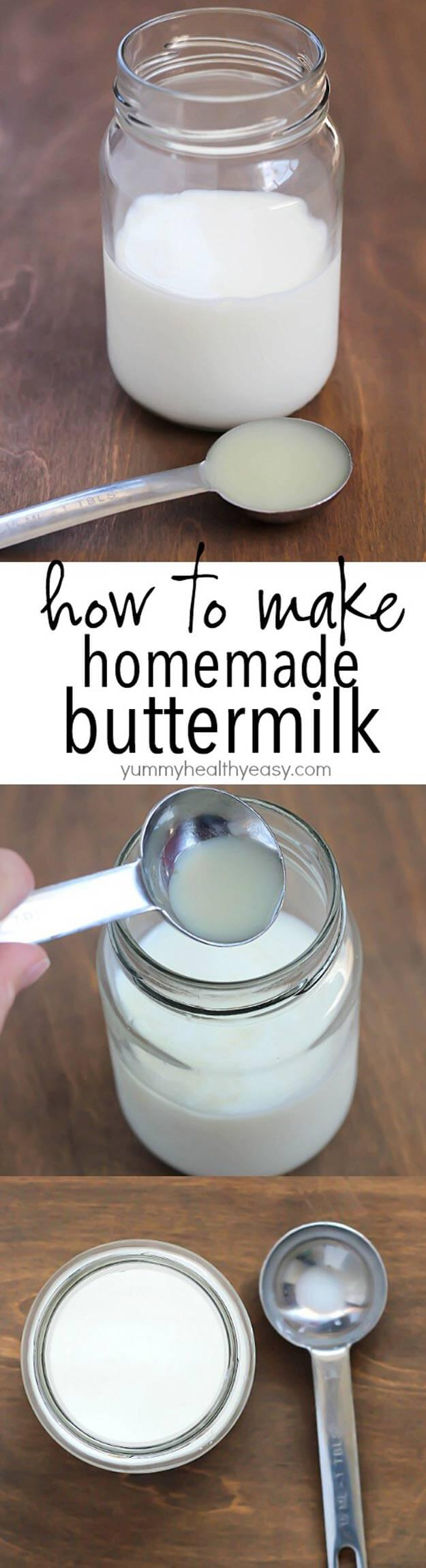 Make Easy Homemade Buttermilk