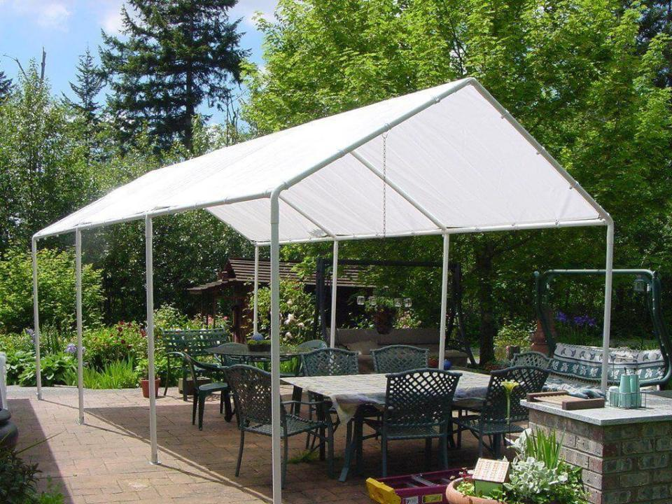 Brilliant DIY Tent Frame from PVC