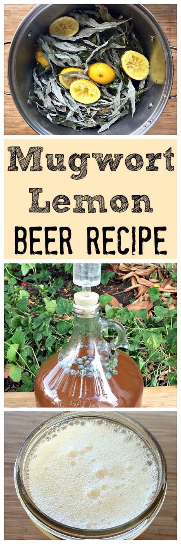 Mugwort Lemon Beer