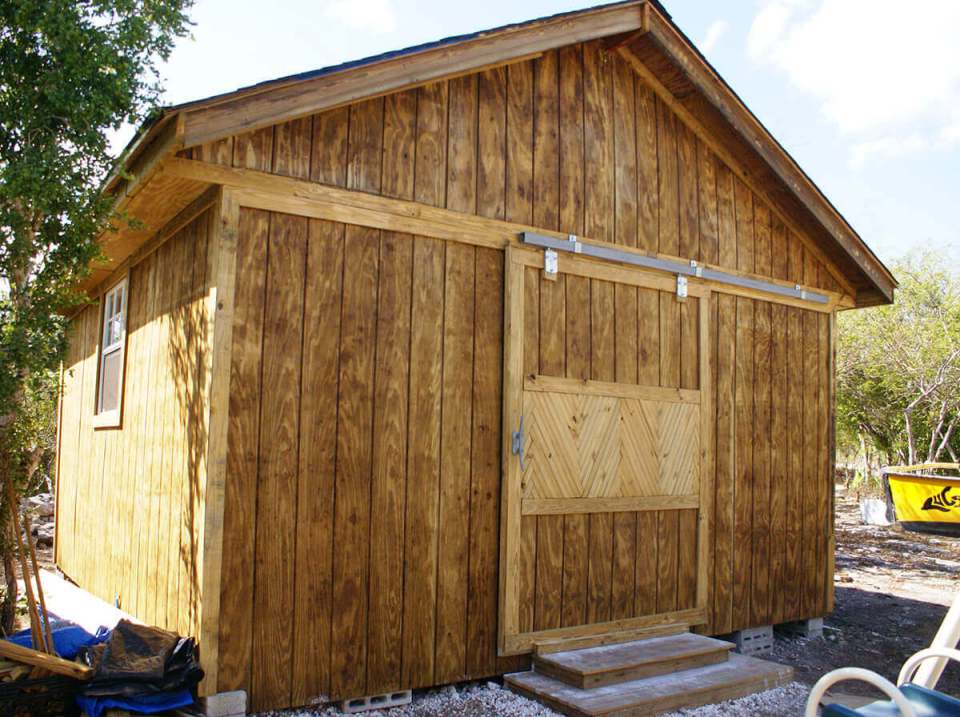 A Large, Barn-Like Storage Shed
